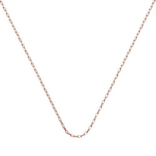 Rose Gold Vermeil Fine Open Link Chain - 20