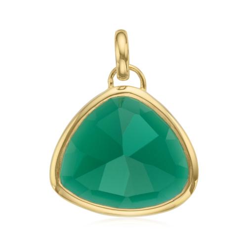 Gold Vermeil Siren Pendant - Green Onyx
