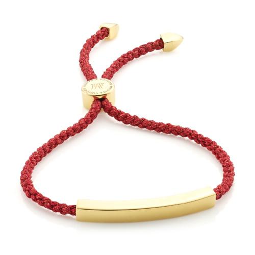 GP Linear Friendship Petite Bracelet - Red Metallica - Monica Vinader