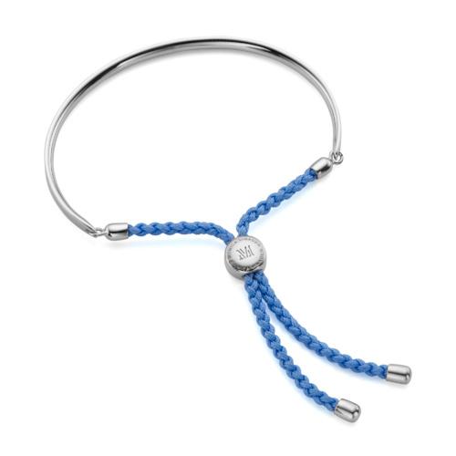 Fiji Friendship Bracelet - Powder Blue - Monica Vinader